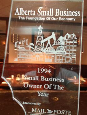 Alberta Small Business - 1994 Small Business Owner of the Year